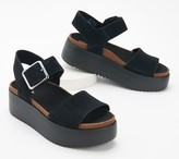 Clarks Leather or Textile Platform Sandals - Botanic Strap