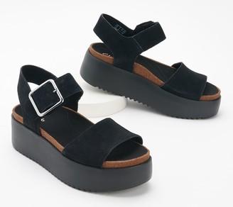 Clarks Leather or Textile Platform Sandals - Botanic Strap