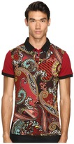 Versace Classic Printed Polo Men's Clothing