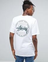 Stussy T-Shirt With Vintage Dot Back Print