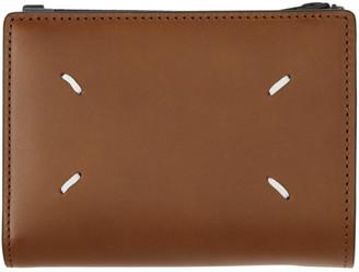 Maison Margiela Brown Zip Card Case Wallet