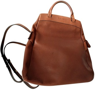 Delvaux Brown Leather Backpacks