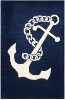 nuLoom Set Sail Wool Rug - Navy