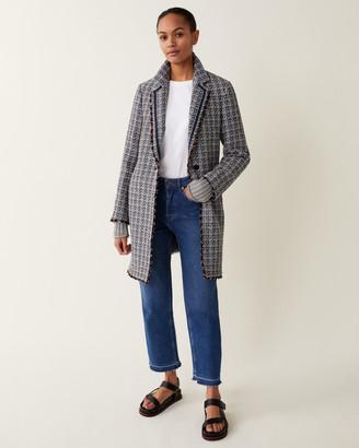 Jigsaw Cotton Boucle Column Coat