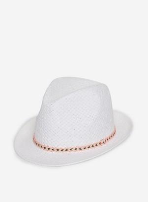Dorothy Perkins Womens White Trilby Hat, White