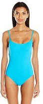Anne Cole Women's Classic Maillot Solid One Piece Swimsuit