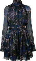 Ungaro turtleneck sheer dress