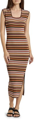 Doane Striped Midi Dress