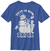Fifth Sun Royal Blue 'How I Roll' Snowman Tee - Boys
