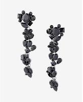 Express stone cluster drop earrings