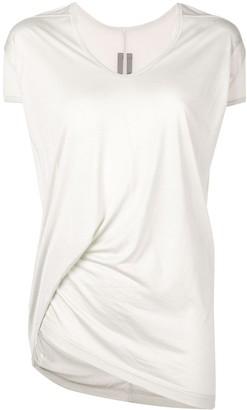 Rick Owens long satin T-shirt