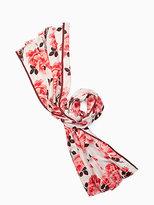 Kate Spade Rosa silk oblong scarf