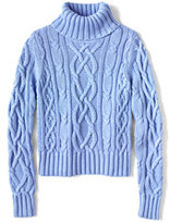 Classic Women's Drifter Aran Turtleneck Sweater-Poppy Field Roses