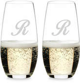 Riedel O Monogram Collection 2-Pc. Script Letter Stemless Champagne Glasses
