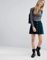 Pull&Bear Velvet A Line Skirt