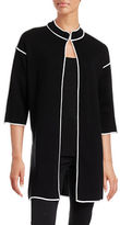 Kasper Suits Open Front Topper Cardigan