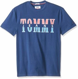 Tommy Jeans Men's Split Logo Crew Neck Vest
