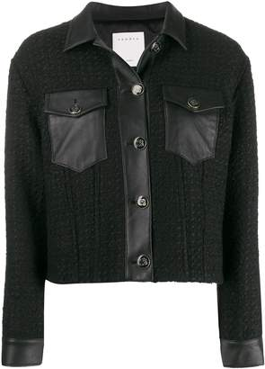 Sandro Paris single breasted cropped jacket