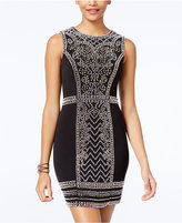Speechless Juniors' Embellished Bodycon Dress