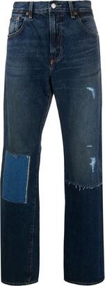 Junya Watanabe x Levi's patchwork straight-leg jeans