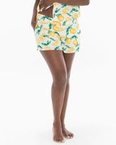 Soma Intimates Cool Nights Full Tap Pajama Shorts Lemon Citrus Ivory