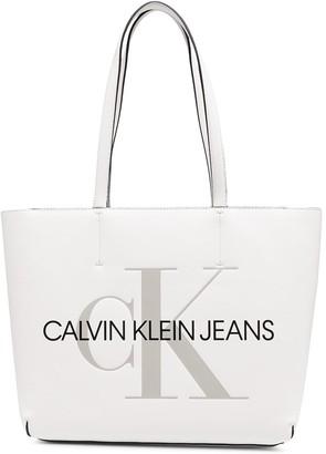 Calvin Klein Jeans Logo Print Tote