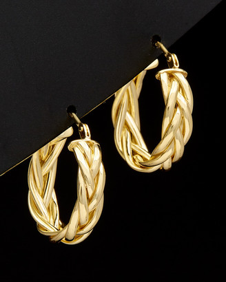 Italian Gold 14K Braided Hoops