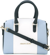 Armani Jeans colour block tote - women - Leather/Polyester - One Size