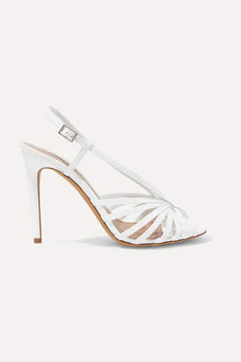 Tabitha Simmons Jazz Patent-leather Slingback Sandals - White