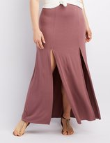 Charlotte Russe Plus Size Slit Maxi Skirt