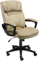 Serta at Home Executive Office Chair, Microfiber, Light Beige, 43670