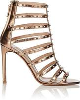Valentino Women's Lovestud Metallic Leather Caged Sandals