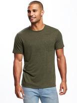 Old Navy Linen-Blend Pocket Tee for Men