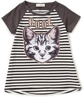 Jessica Simpson Big Girls 7-16 Harrington Striped Cool Cat Top