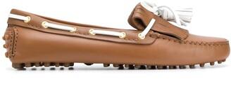 Car Shoe Tassel Embellished Loafers