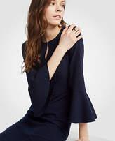Ann Taylor Petite Flare Sleeve Sheath Dress
