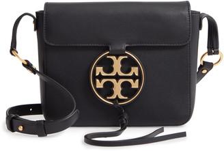 Tory Burch Miller Metal Logo Leather Flap Crossbody Bag