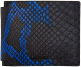 Lanvin Black and Blue Python Wallet