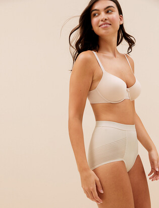 Marks and Spencer Firm Control Sheer Stripe No VPL High Leg Knickers