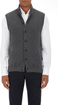 Brunello Cucinelli Men's Cashmere High-Neck Vest-GREY