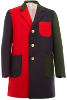 Thom Browne contrast side single breasted coat