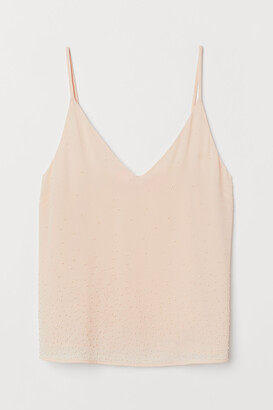H&M Bead-embroidered Camisole Top