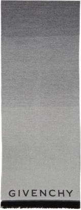 Givenchy Grey Classic Degrade Intarsia Scarf