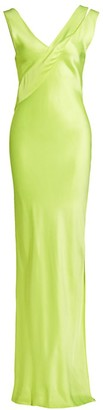 Helmut Lang Neon Sash Gown
