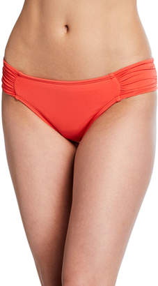 La Blanca Island Goddess Shirred-Side Hipster Swim Bikini Bottom