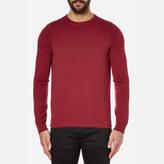 BOSS ORANGE Men's Albinon Crew Neck Knitted Jumper Medium Red