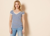 Garage Stripe Basic V Neck Tee