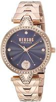 Versus By Versace Women's 'V VERSUS CRYSTAL' Quartz Tone and Gold Plated Casual Watch(Model: VSPCI3817)