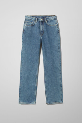 Weekday Voyage High Straight Jeans - Blue