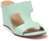 14th & Union Samira Croc Embossed Wedge Sandal